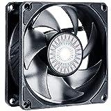 Cooler Master SickleFlow 80 Ventilador de Caja: 80 mm, Aspas Air Balance Mejoradas, 30 CFM, 2.75 mmH2O, 6 a 25 dBA, 4-Pin PWM, Sin LED, Negro