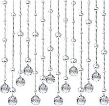 XZP Glass Crystal Beads Curtain Window Door Curtain Passage Wedding Backdrop (Color : Lightbrown, Size : 1.5M)