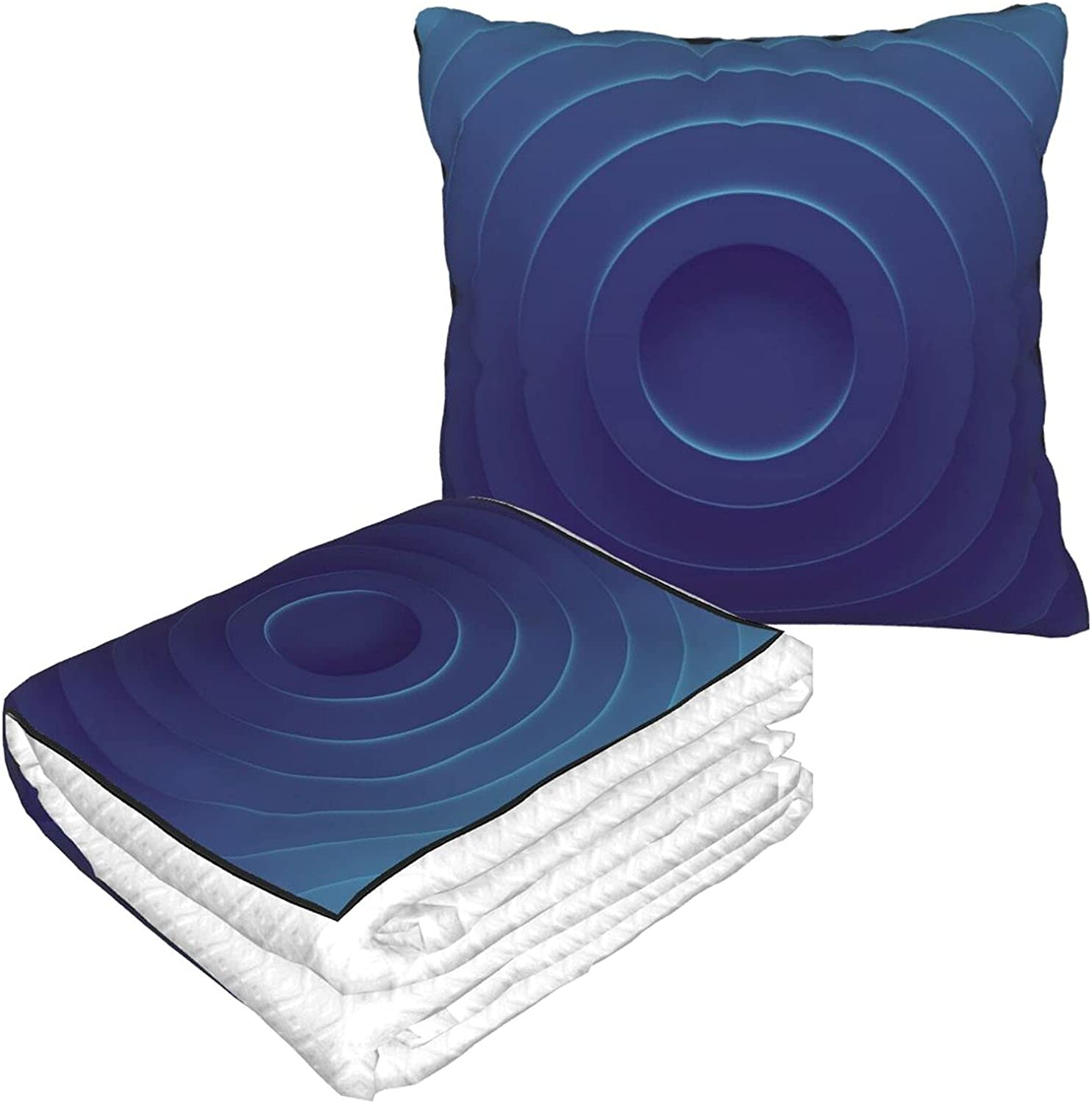Blue Rings. 3D Illustration. Hug Two-in-One Pillow Doubl Blanket Super OFFicial site special price