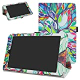 DigiLand DL8006 Case,Mama Mouth PU Leather Folio 2-Folding Stand Cover for 8.0' DigiLand DL8006 Android Tablet,Love Tree