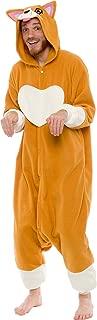 Silver Lilly Unisex Adult Pajamas - Plush One Piece Cosplay Corgi Animal Costume