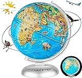 Best World Globes - Fun Lites 20Cm LED Illuminated Animal World Globe Review