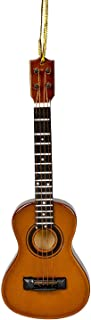 Broadway Gift Ukulele Music Instrument Replica Christmas Ornament,Brown,Size 5 inch