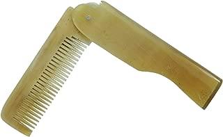 Buffalo Horn Folding Beard Comb Beard Brush Elegant Anti-Static Pocket Hair Brush