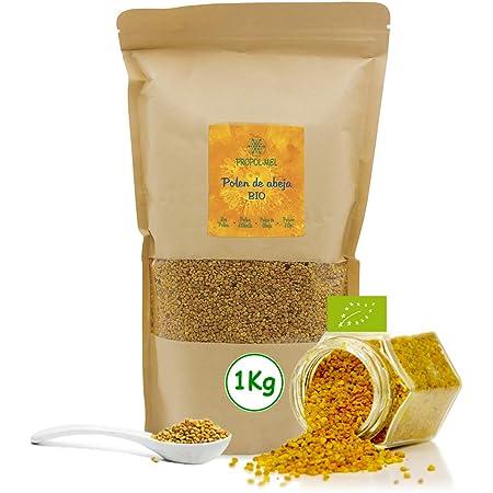 1 kg - Polen de España BIO. 100% natural. Polen de abeja ecologico libre de residuos. Polen fuente de proteinas, aminoácidos, lípidos, vitaminas y ...