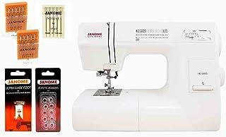 Janome HD3000 Heavy Duty Sewing Machine w/Hard Case + Ultra Glide Foot + Blind Hem Foot + Overedge Foot + Rolled Hem Foot...