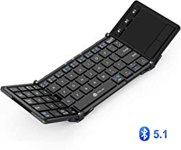 iClever Bluetooth Keyboard, BK08 Folding Keyboard with Sensitive Touchpad (Sync Up to 3..
