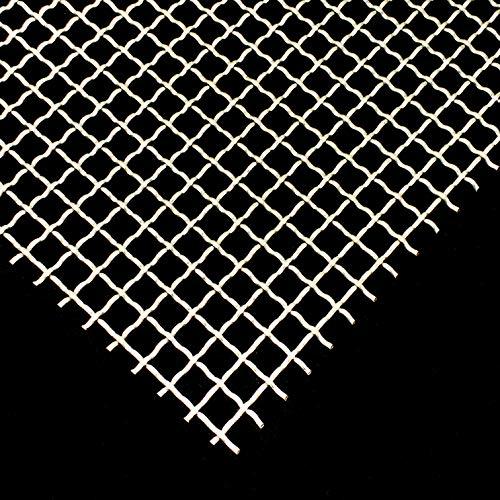 Stahl Verzinkt Wellengitter 10 x 10 mm Maschenweite Stahl 2 mm dick Drahtgitter Gitter Wellgitter Wunschzuschnitt (500 mm x 550 mm)