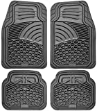 Floor Mats for Cars Trucks SUVs (4 Piece Set) All Weather Heavy Duty Rubber Car Accessories Best for Auto Truck SUV Van Waterproof Interior Automobiles Liners Covers - Gray Semi Custom Tactical Mat