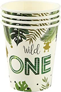 Party Tableware Wild party Jungle Birthday Party Tableware Jungle Plates Cups Napkins Safari Decor Baby Shower Supplies (C...