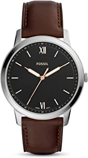Fossil Mens Analogue Quartz Watch with Leather Strap FS5464
