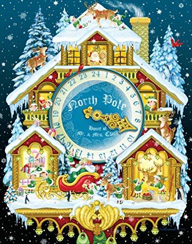Calendario dell'Avvento con Ogiva Orologio a Cucù di Natale (in Inglese)