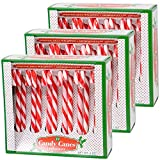 Candy Cane Peppermint Red & White Gift Set | 12 Pieces in Each Box - Pack of 3 - 36 Total Count | Individually Wrapped | Includes To & From Gift Tags (Red)