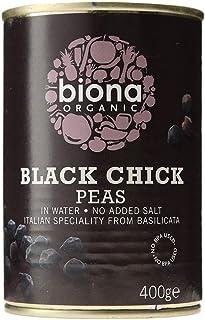 Biona Organic Black Chick Peas, 400 g