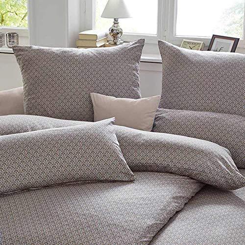 EStella Melina Bed Linen Nougat, Cotton, nougat, 135 x 200 + 80 x 80