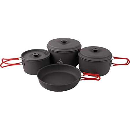 Alocs Camping Cookware Pots and Pans Set Backpacking Mess kit for Hiking Picnic Outdoor Lightweight