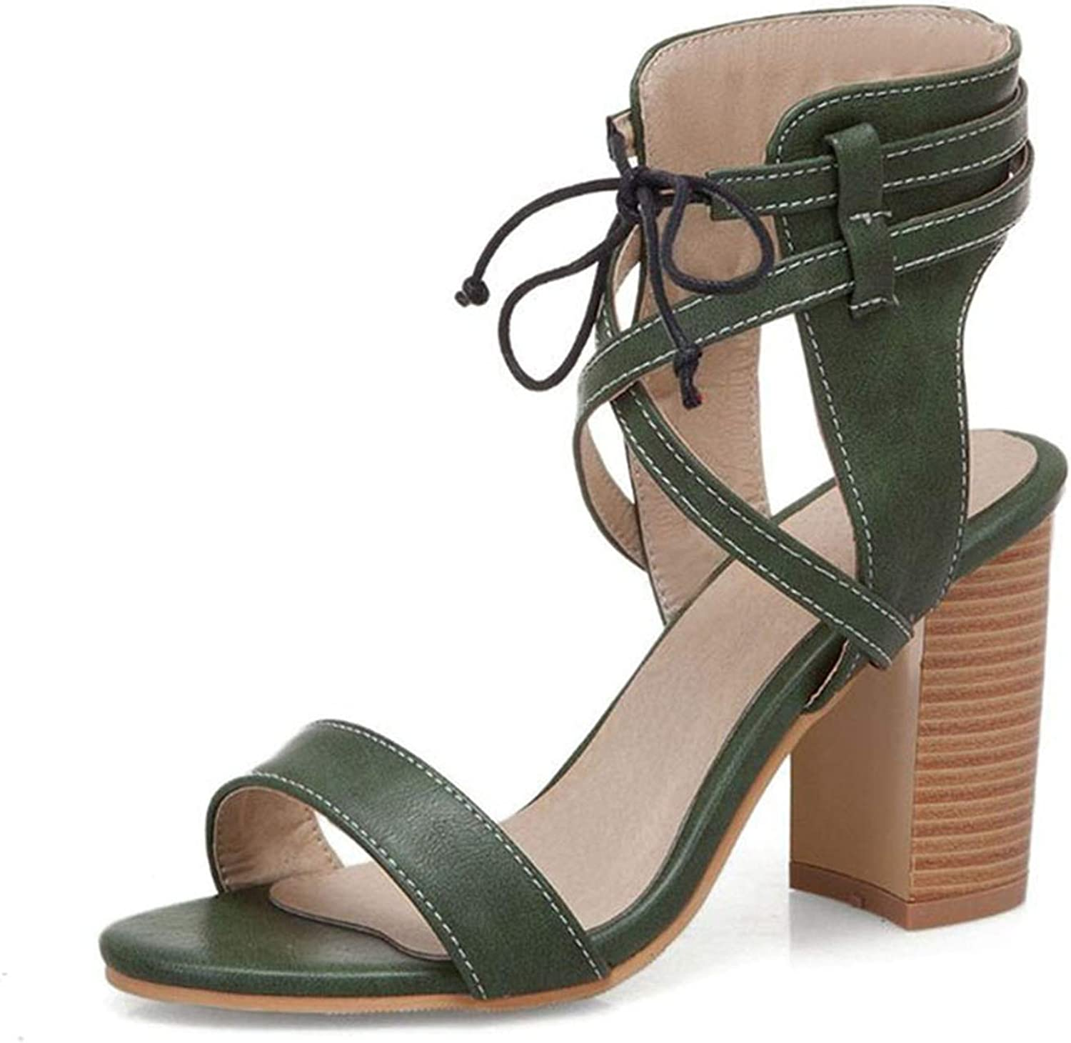 Fairly Gladiator High Heel Cross Strap Club Sexy Party shoes Daily,Green,7