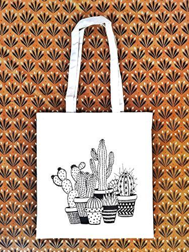Tote bag Cactus - Bolsa de tela tote - Bolsa Boho - Regalo para mujer - Mexico - Regalo Cumpleaños Mujer - Prime