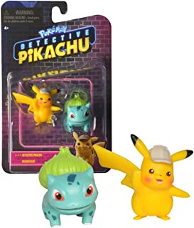 Bandai – Pokemon – Pikachu Detective Film – Pack of 2 Figures 5 cm – Pikachu & Bulbasaurus – WT97598