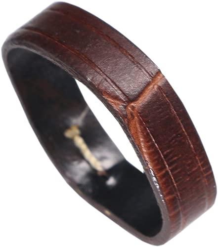 Premium Calf Hide Leather Watch Strap Loop Band Holder Change Crocodile Grain in Brown/Black