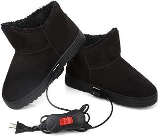 BBGSFDC Zapatos de calefacción eléctrica USB Calefacción Zapatillas climatizada Felpa de Calzado Antideslizante, Calentado...