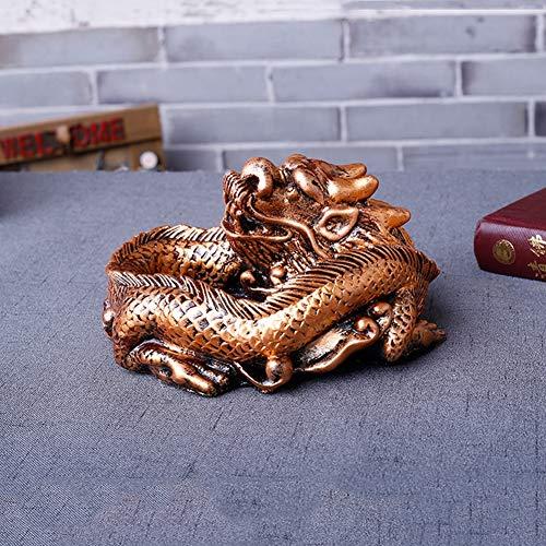 Asbak met creatieve persoonlijkheid, serie decoratie voor thuis, wekker, cadeau uit goud, Shenlong (klein)