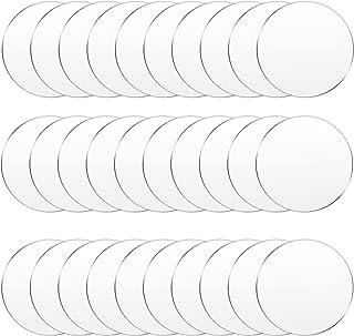 30 Pieces Clear Acrylic Circles Clear Disc Transparent Acrylic Round Circle Clear Disc Acrylic Sheet Acrylic Plastic Disc ...