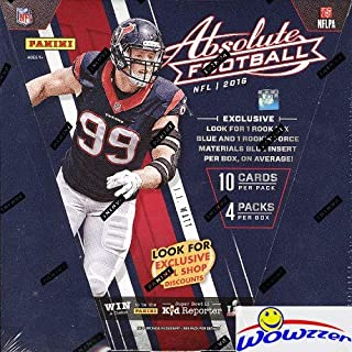 2016 Panini Absolute Football EXCLUSIVE Factory Sealed PREMIUM Box with TWO(2) AUTOGRAPH or MEMORABILIA Cards! Look for RC's & Auto's of Carson Wentz, Ezekiel Elliott, Jared Goff, Dak Prescott & More!