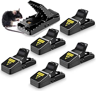 WAMBORY Mouse Trap, 6Pcs Mouse Traps, Small Mice Trap Outdoor Indoor Best Snap Traps for Mouse/Mice Safe and Reusable Mous...