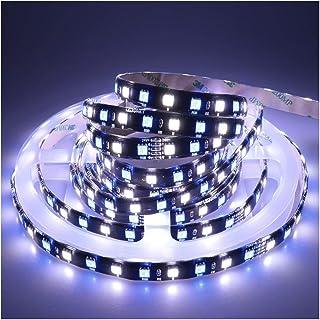 LEDENET Waterproof IP65 Flexible RGBW LED Strip Lights DC 24V 360LEDs 5M Black PCB Indoor Decoration Lighting (RGB+Cold Wh...