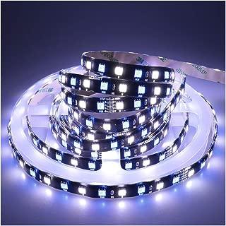 LEDENET Waterproof IP65 Flexible RGBW LED Strip Lights DC 24V 360LEDs 5M Black PCB Indoor Decoration Lighting (RGB+Cold White)