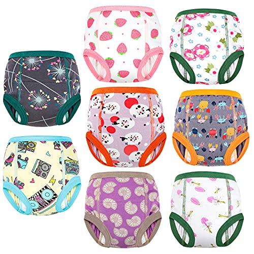 FLYISH DIRECT Kleinkind Töpfchen Trainingshose Baby Lernwindel Trainerhosen Unterwäsche für Baby Kleinkinder, 8 Stück, 100/3T, 3 Jahre
