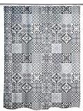 WENKO Duschvorhang Portugal, Textil-Duschvorhang fürs Badezimmer, inkl. Ringen zur Befestigung an der Duschstange, waschbar, 100 prozent Polyester, 180 x 200 cm, mehrfarbig