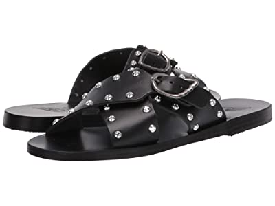 Ancient Greek Sandals Pella Rivets (Black) Women
