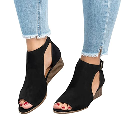 8399b9d204363 Work Heel Booties: Amazon.com