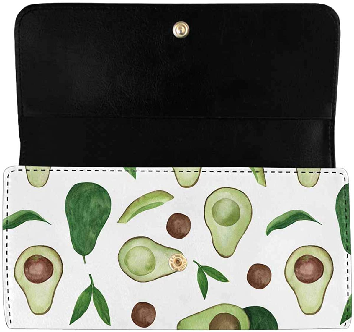 INTERESTPRINT Women's Trifold Long Clutch famous Pattern with Wallets A supreme