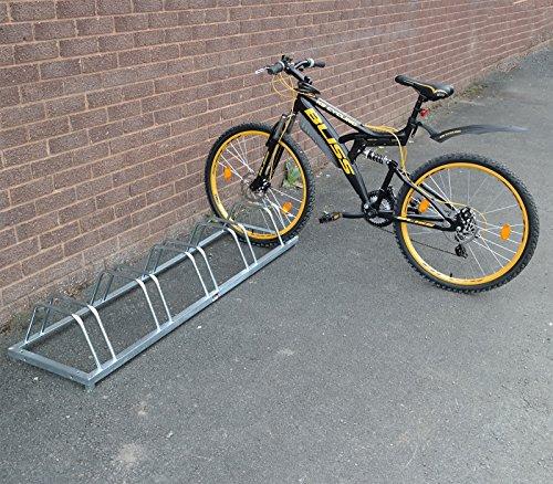 3/4/5 Bike Stand Rack Floor/Wall Mount Bicycle Cycle Storage Locking Garage Shed (5 Bike)