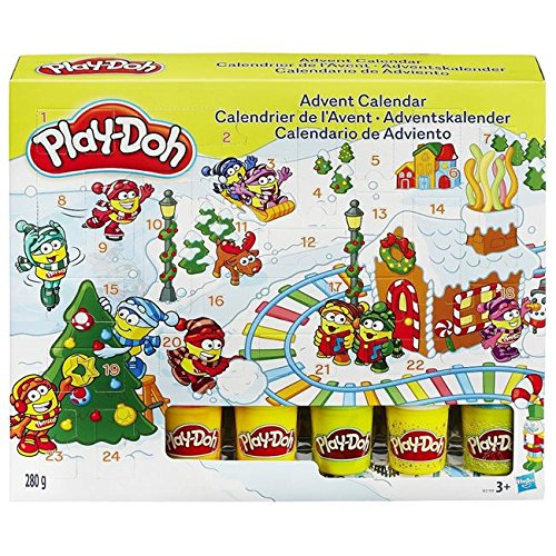 Play-Doh Advent Calendar with Festive Play Mat - Includes 5 Tubs of Playdoh