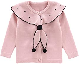 Moonnut Little Girls' Cute Rabbit Knit Cardigan Sweater (Baby/Toddler)