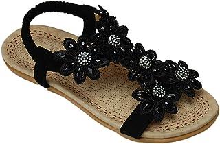 キッズ サンダル ガールズ 花モチーフ バックストラップ 17527 女の子 子供靴 おしゃれ かわいい