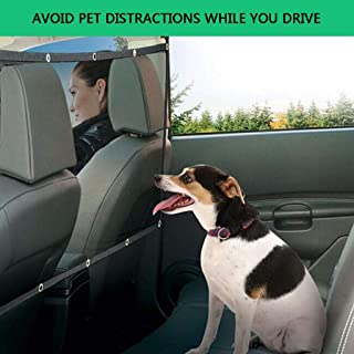 ? Yu2d ???? ?Pets Dog Car Van Safety Guard Net Front Or Back Seat Barrier Nylon Mesh