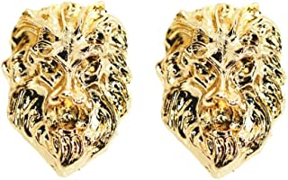 18K Real Gold Plated Lion Head Casual Business Suit Shirt Collar Pin Brooch Tips Men Jewelry for him
