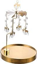 Suporte de vela giratório de Natal OSALADI para velas de rena, suporte de vela rotativa para chá de Natal, suporte de vela...