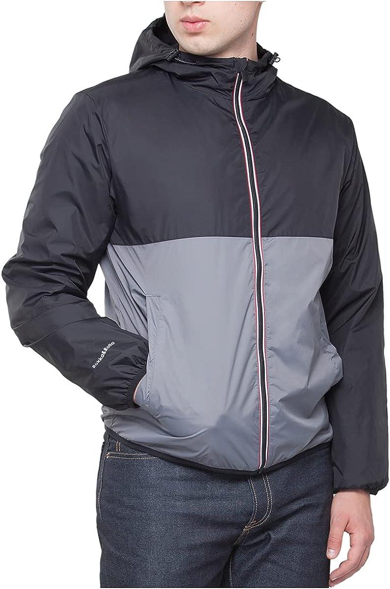 Rokka&Rolla Men's Packable Mesh Rain Jacket Lightweight Windbreaker