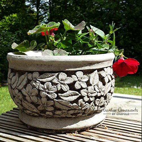 Vaso/fioriera in pietra decorativa da giardino fatto a mano in...