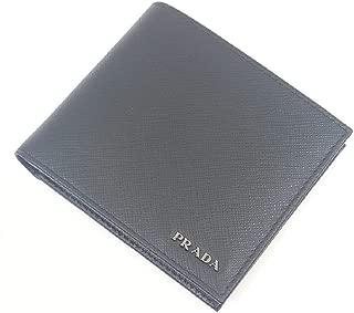 Portafoglio Nero/Mercurio Saffiano Bicolo Leather Wallet 2MO513