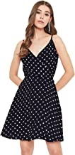 Istyle Can Women's Polka Dot Fit and Flare Dress