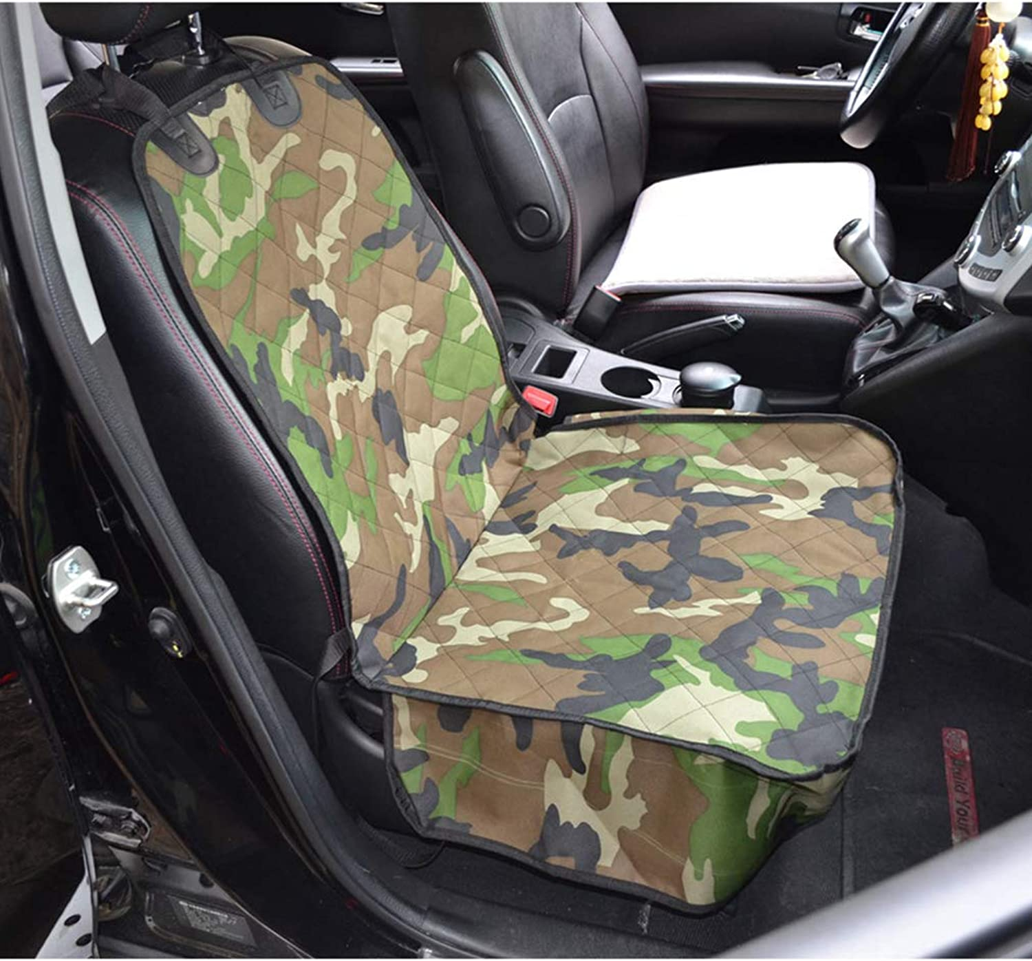 SENERY Pet Dog Car Front Seat Cover Predector,NonSlip Dog Car Mat Blanket Pet Accessories Army Green