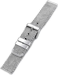 Loop Wrist Strap 18mm 20mm 22mm Watch Straps for Men 24mm Universal Stainless Steel Band Bracelet Pink Buckle Belt Desallusa-Bands-204965