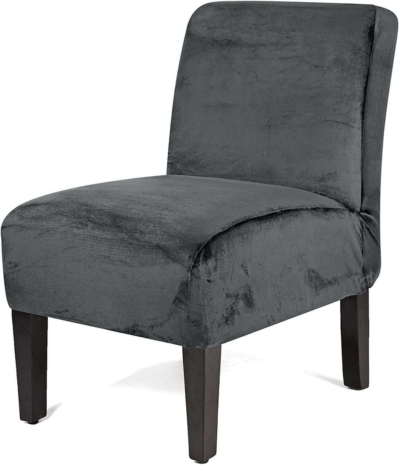 Quantity limited WOMACO Armless Max 81% OFF Accent Chair Velvet Slipcover Slip Stretch